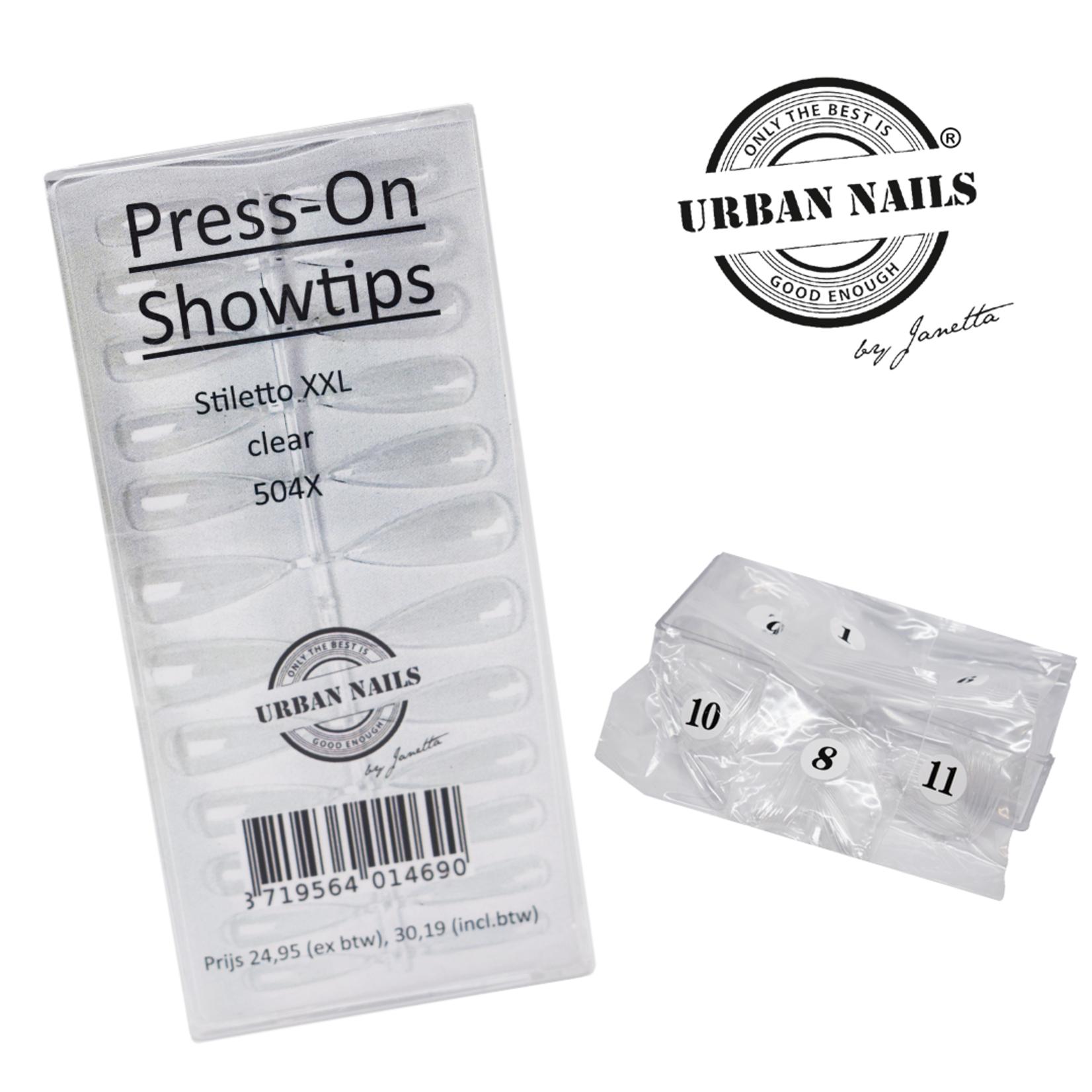 Urban Nails Press On Tips Stiletto XXL Box 504 stuks