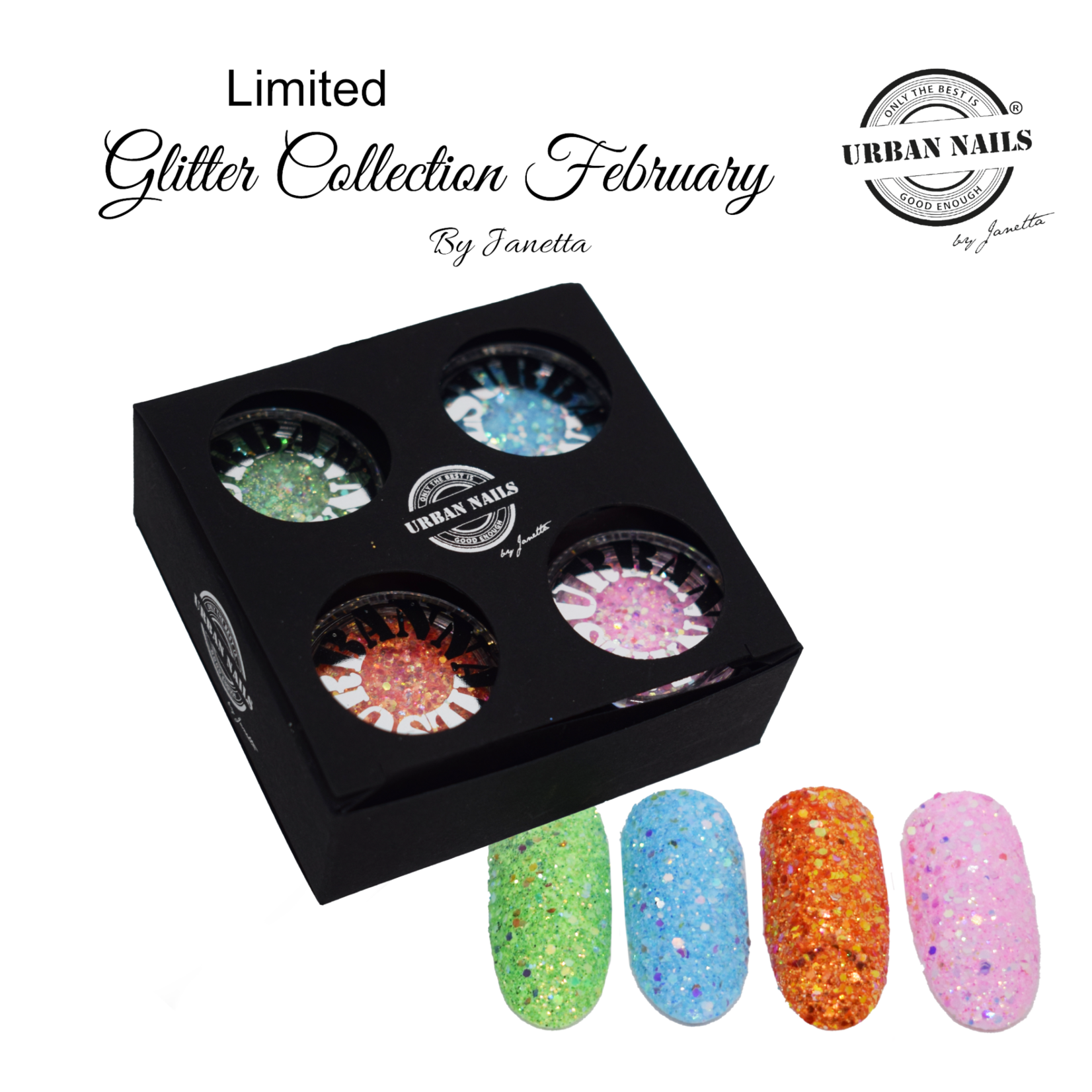 Urban Nails Limited Glitter Collection February