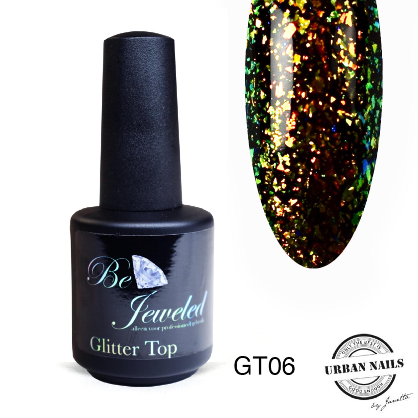 Urban Nails Glitter top gel 6