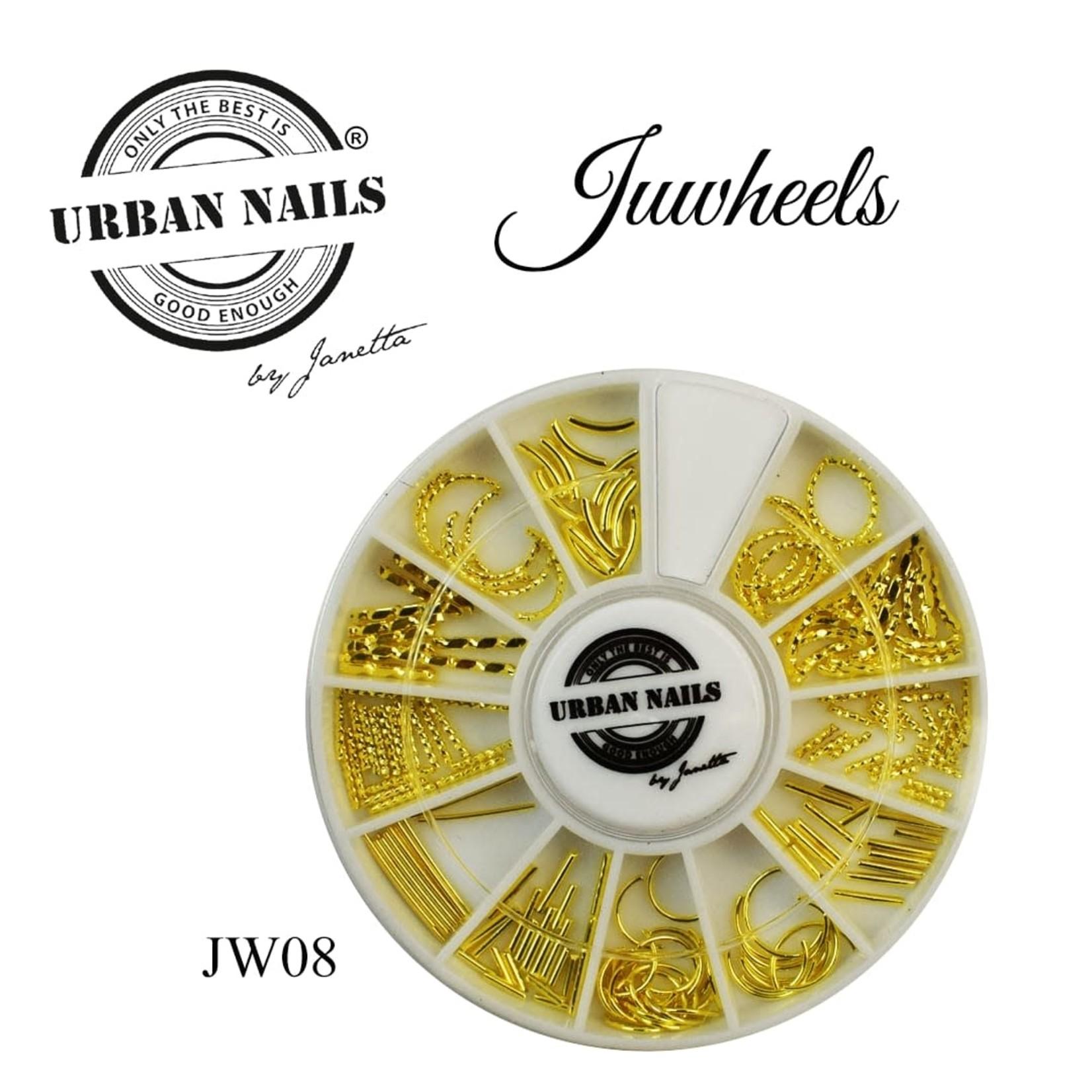 Urban Nails JuWheels JW08 Mix Gold