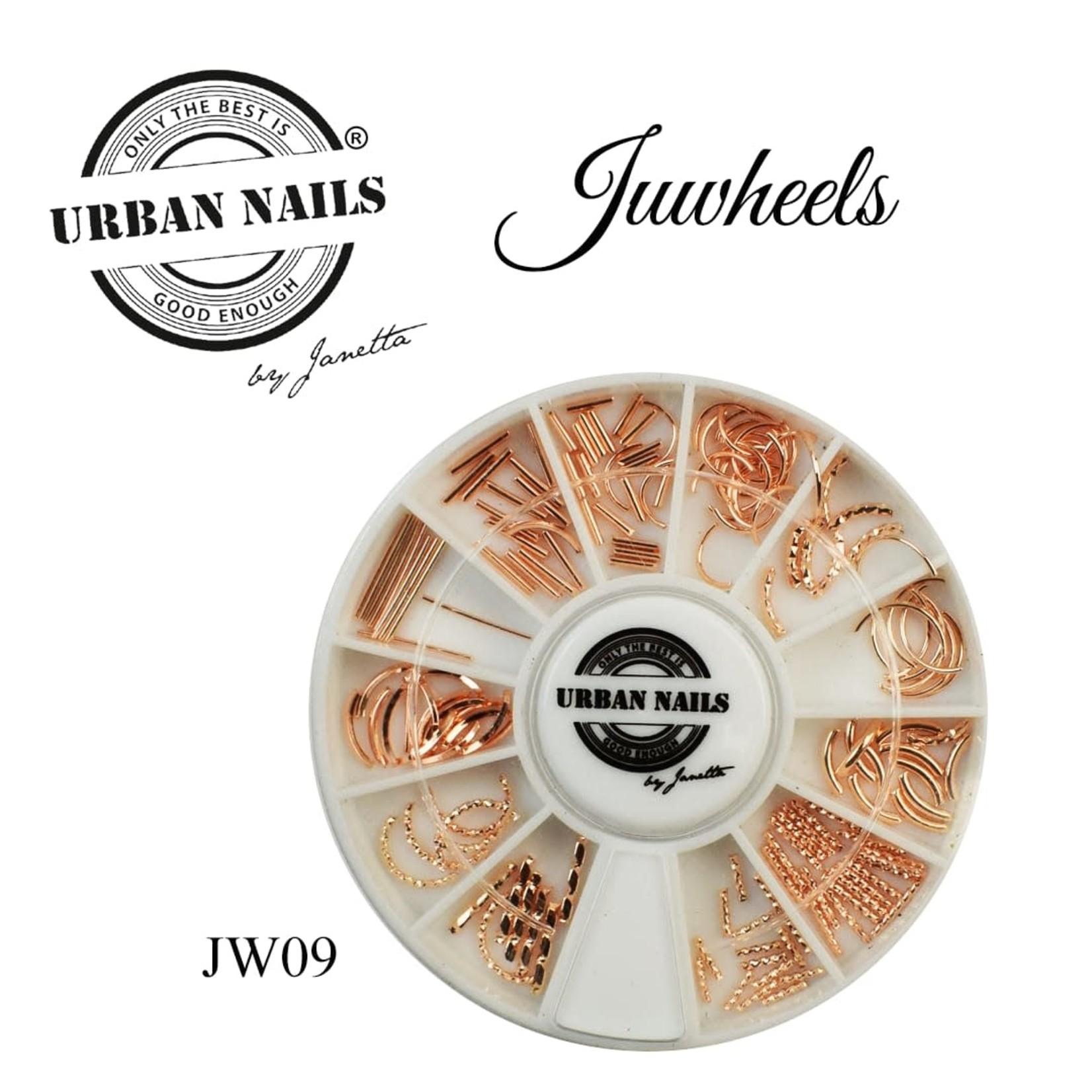 Urban Nails JuWheels JW09 Mix Rosé gold