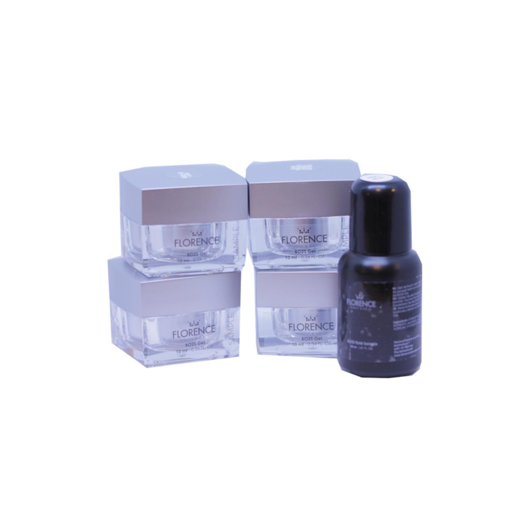 Florence Nails BO2S Gel Sample Kit (met Natural White)