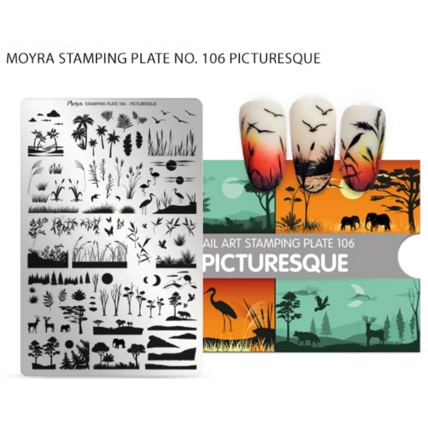 Moyra Moyra Stamping plate 106 - Picturesque
