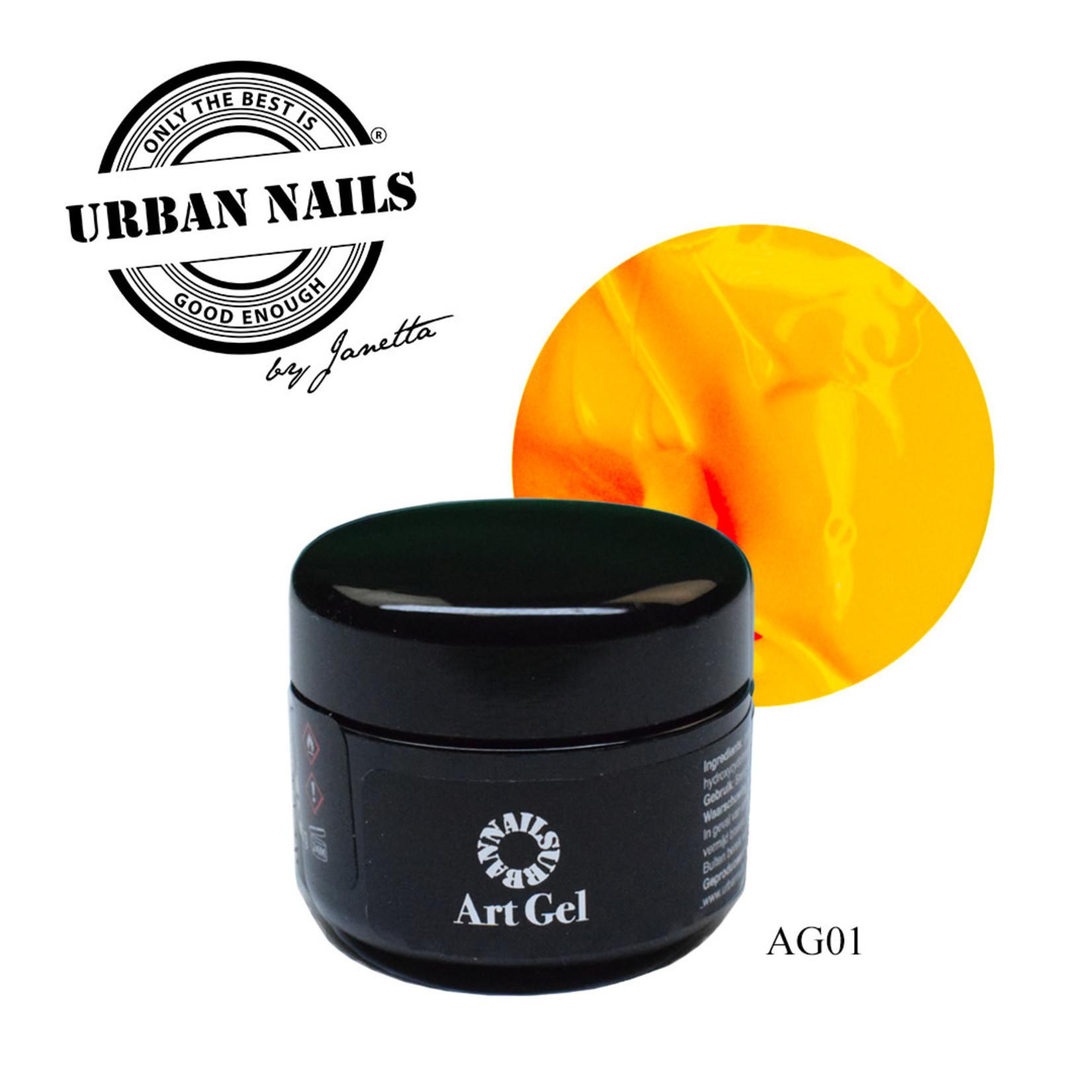 Urban Nails Art Gel 1 Geel