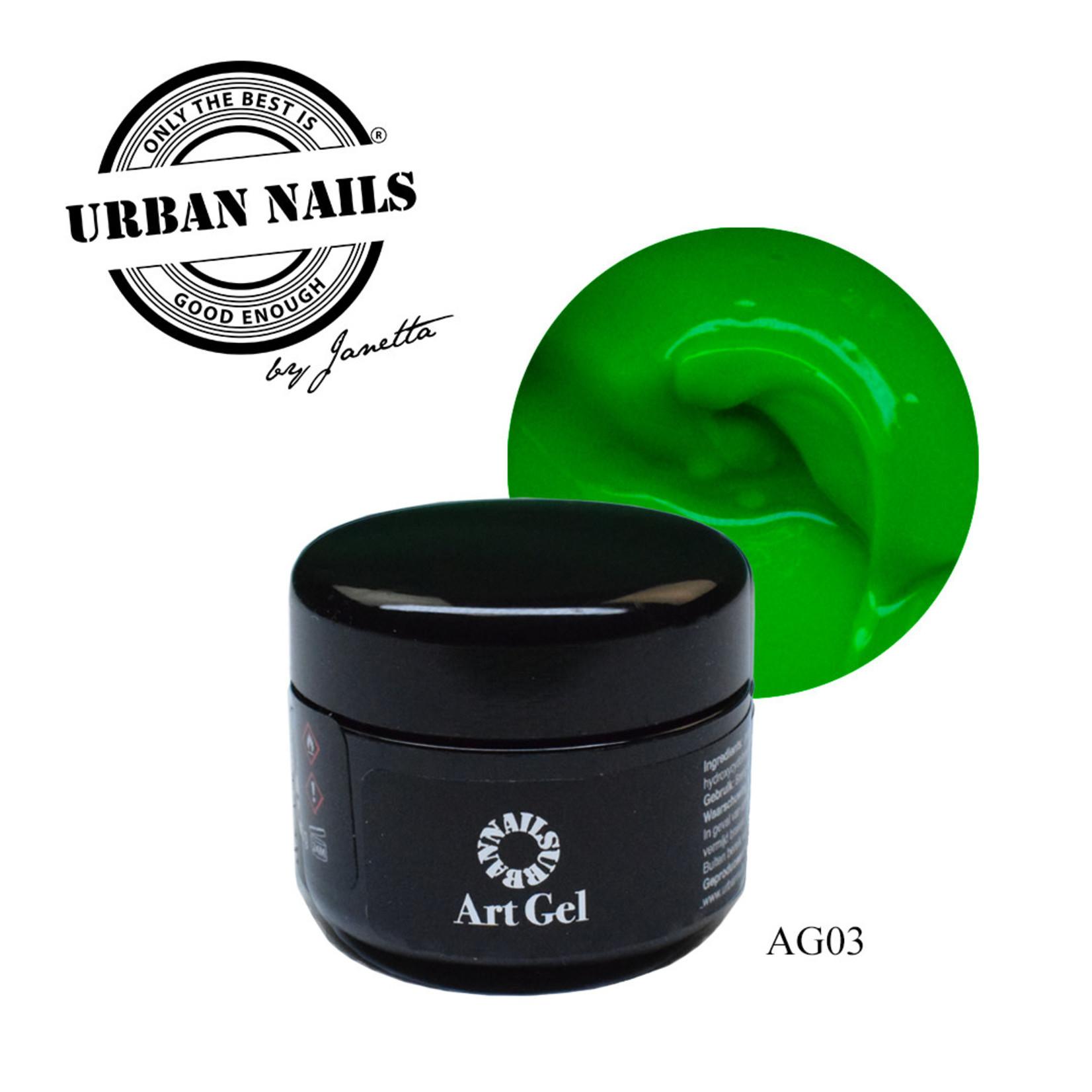 Urban Nails Art Gel 3 Groen