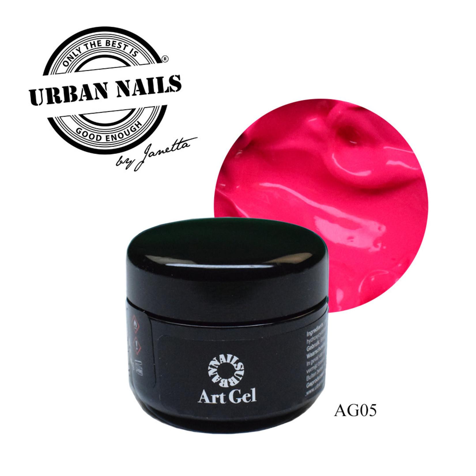 Urban Nails Art Gel 5 Fel Roze