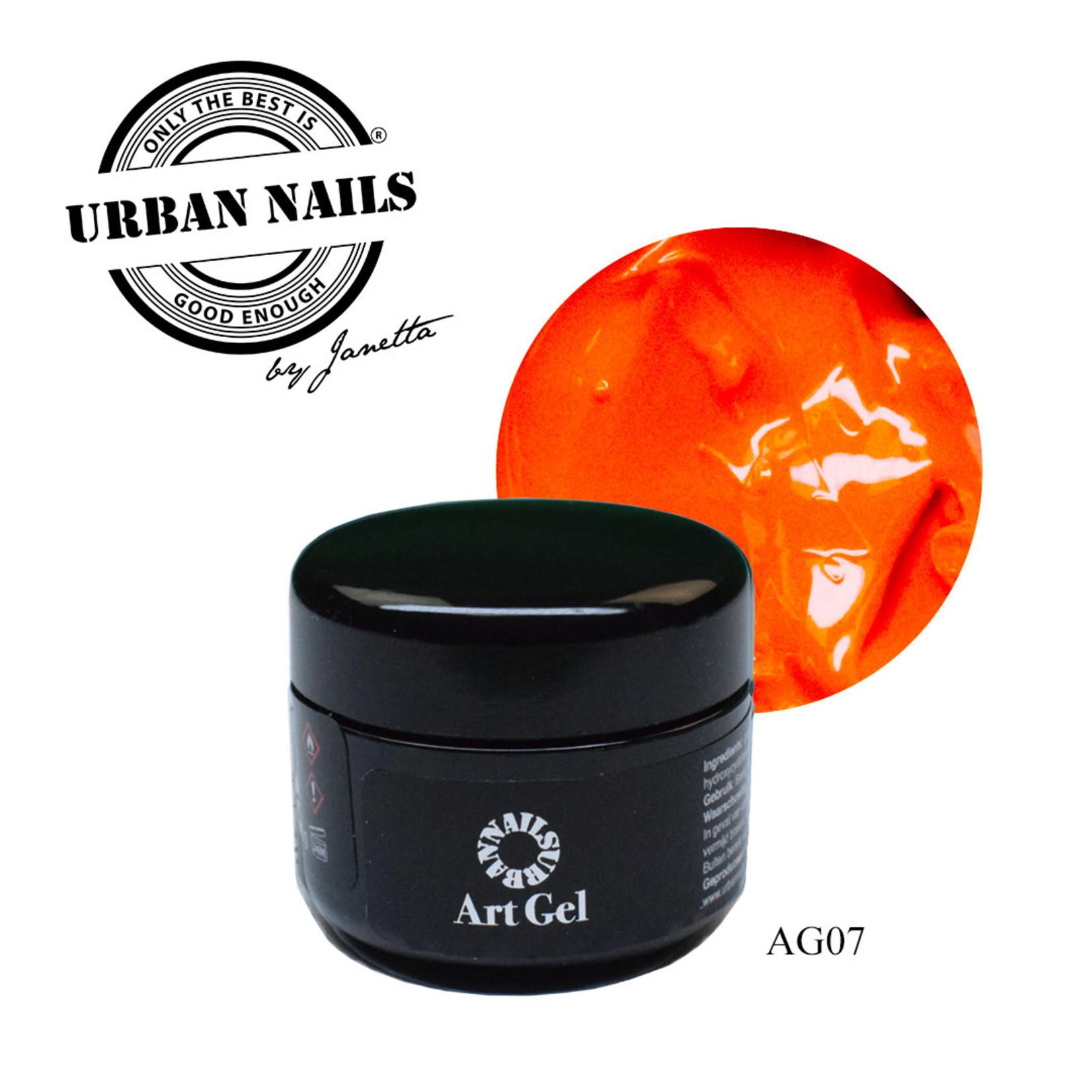 Urban Nails Art Gel 7 Donker Oranje