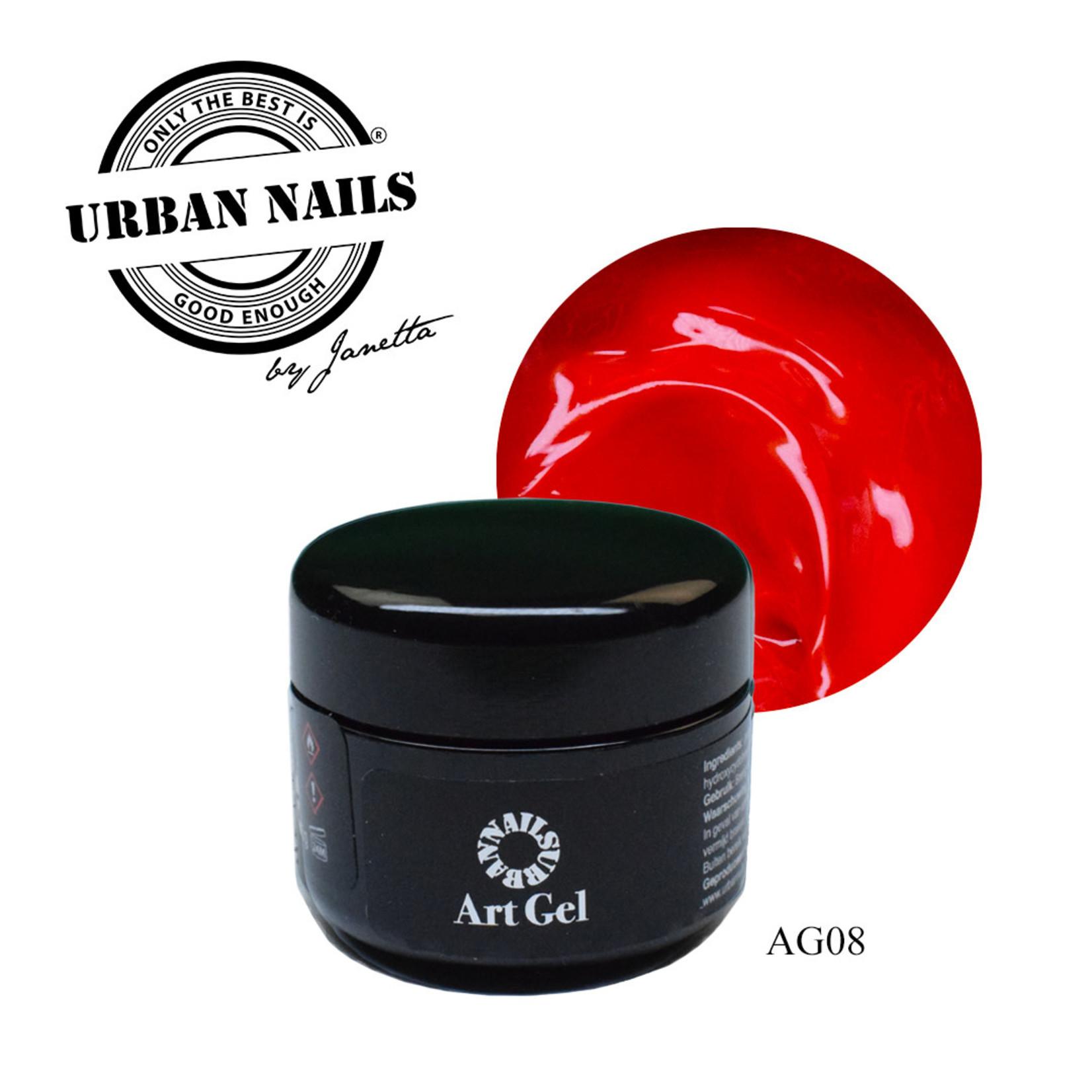 Urban Nails Art Gel 8 Rood