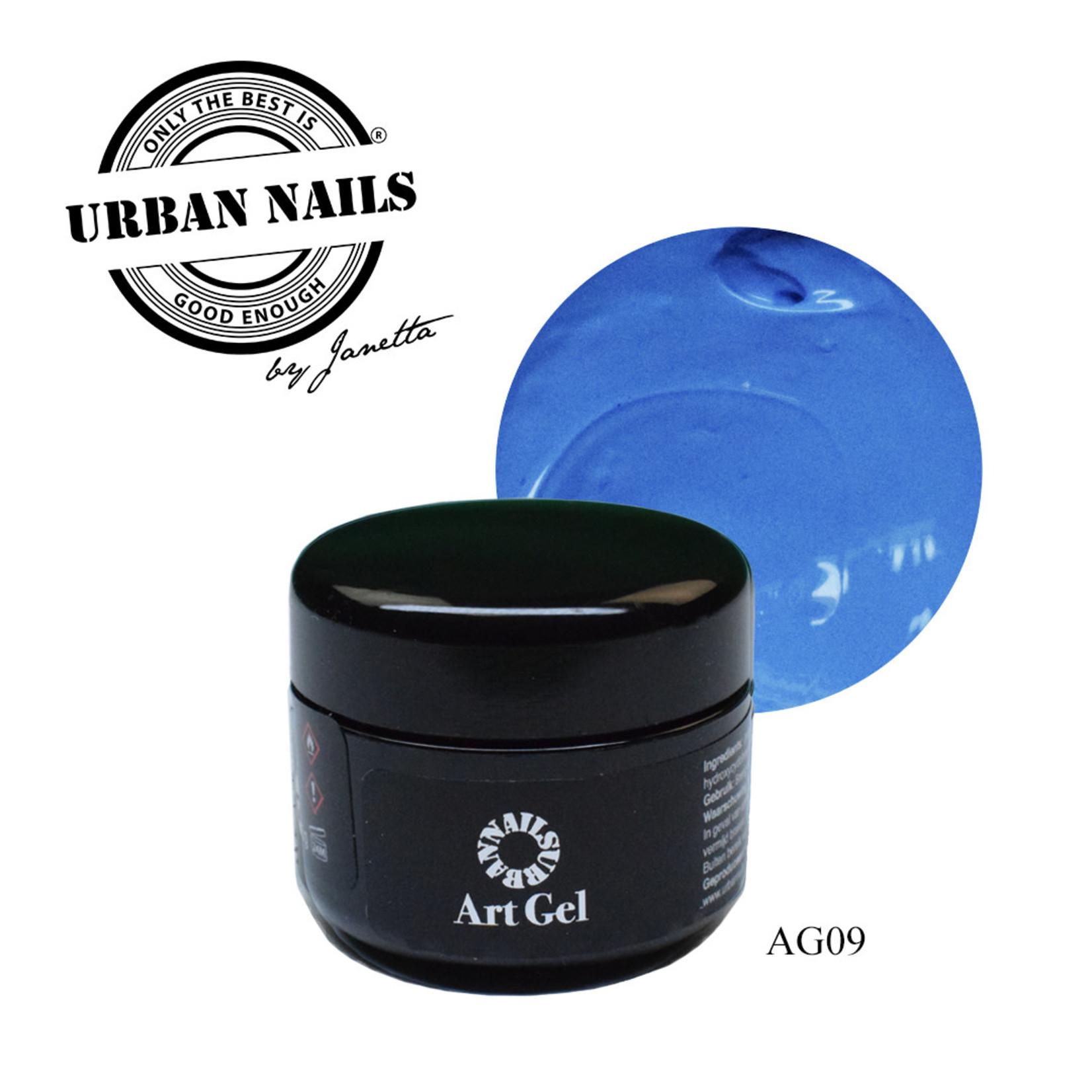 Urban Nails Art Gel 9 Blauw