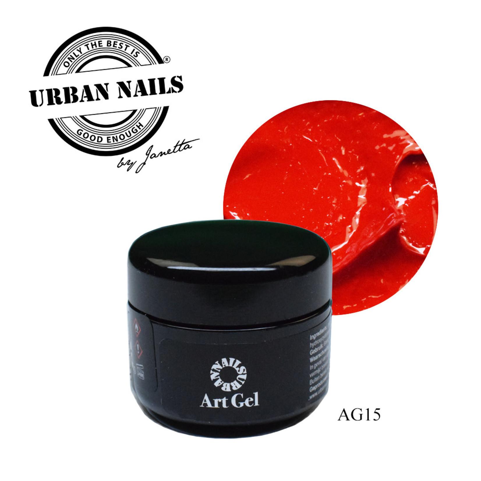 Urban Nails Art Gel 15 Helder Rood