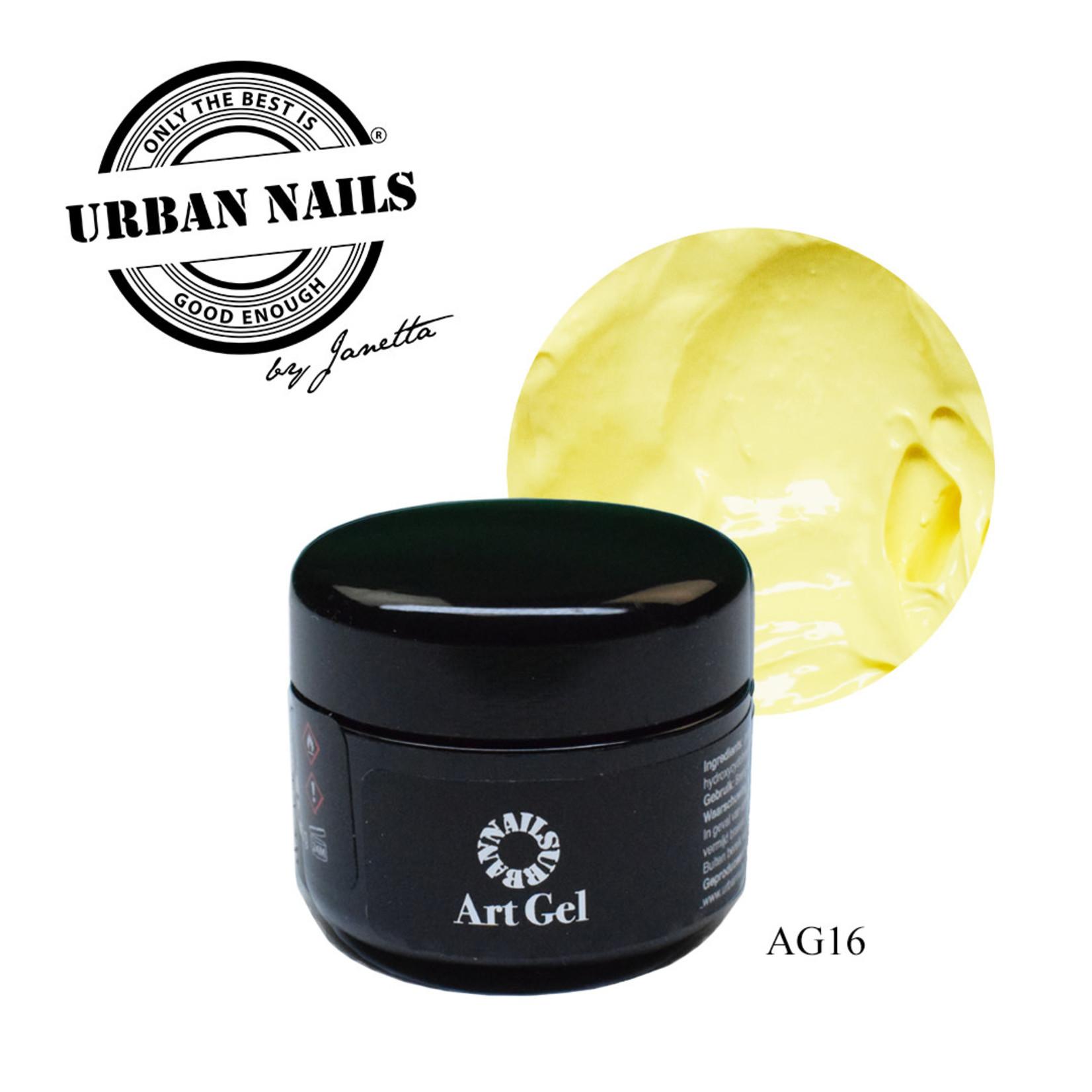 Urban Nails Art Gel 16  Zacht Geel