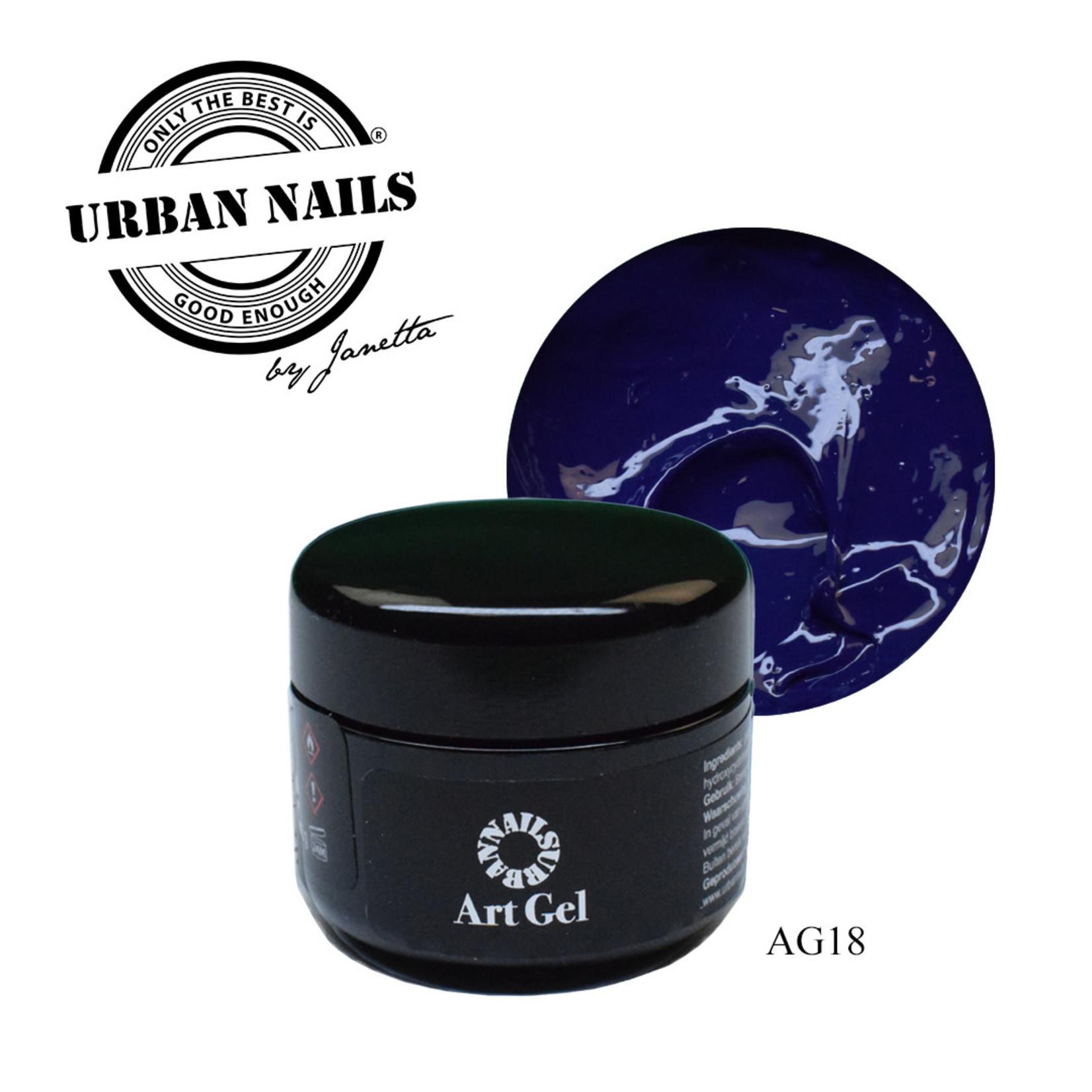Urban Nails Art Gel 18 Donkerblauw