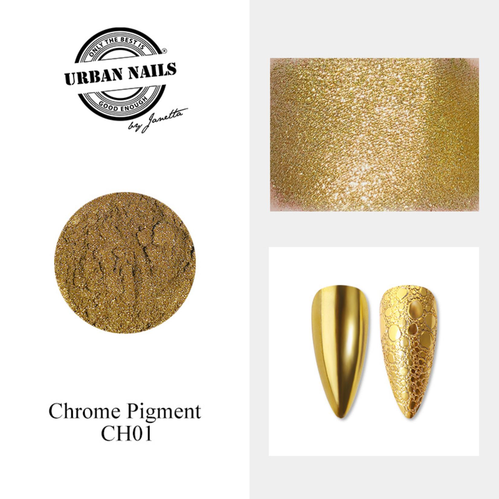 Urban Nails Chrome pigment 01 Goud