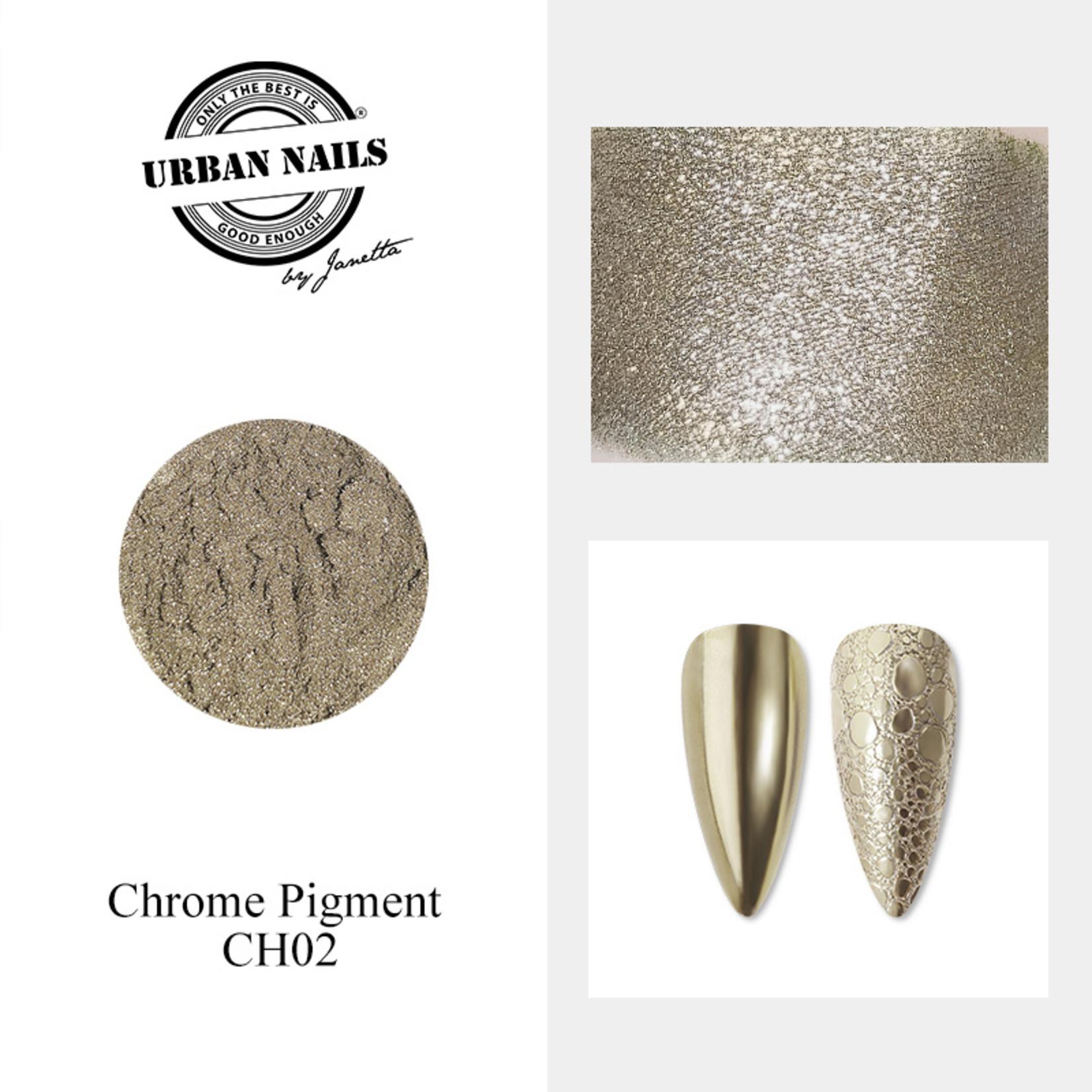 Urban Nails Chrome pigment 02 Antraciet