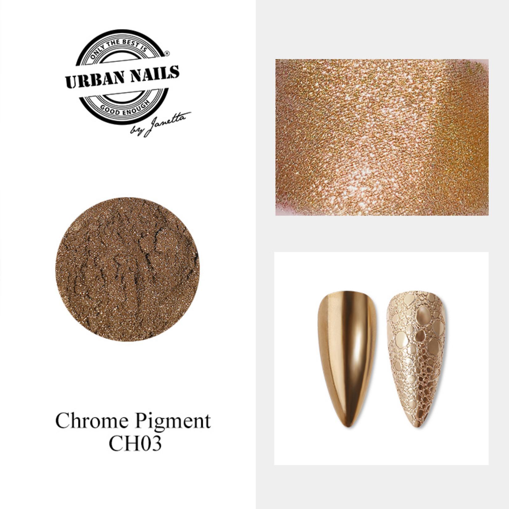 Urban Nails Chrome pigment 03 Rosé Goud