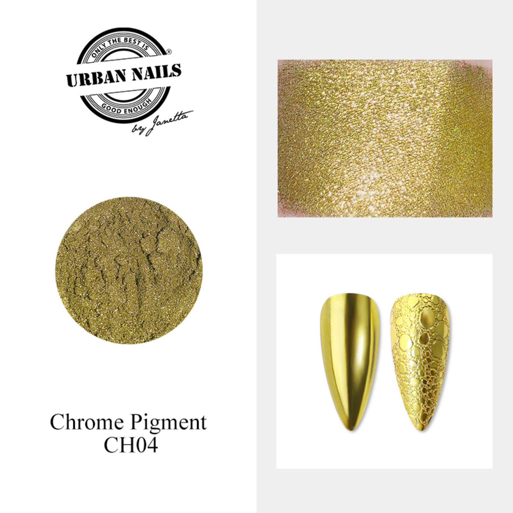Urban Nails Chrome pigment 04 Geel Goud