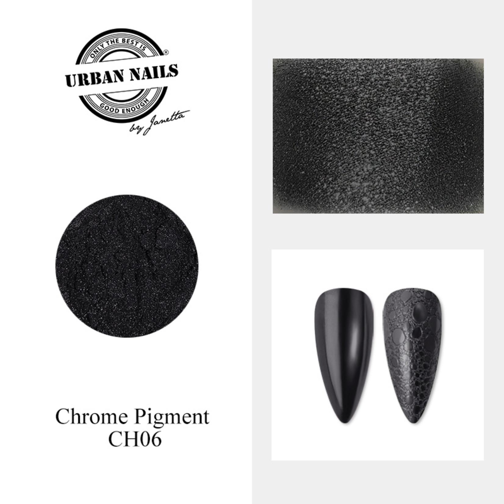 Urban Nails Chrome pigment 06 Zwart