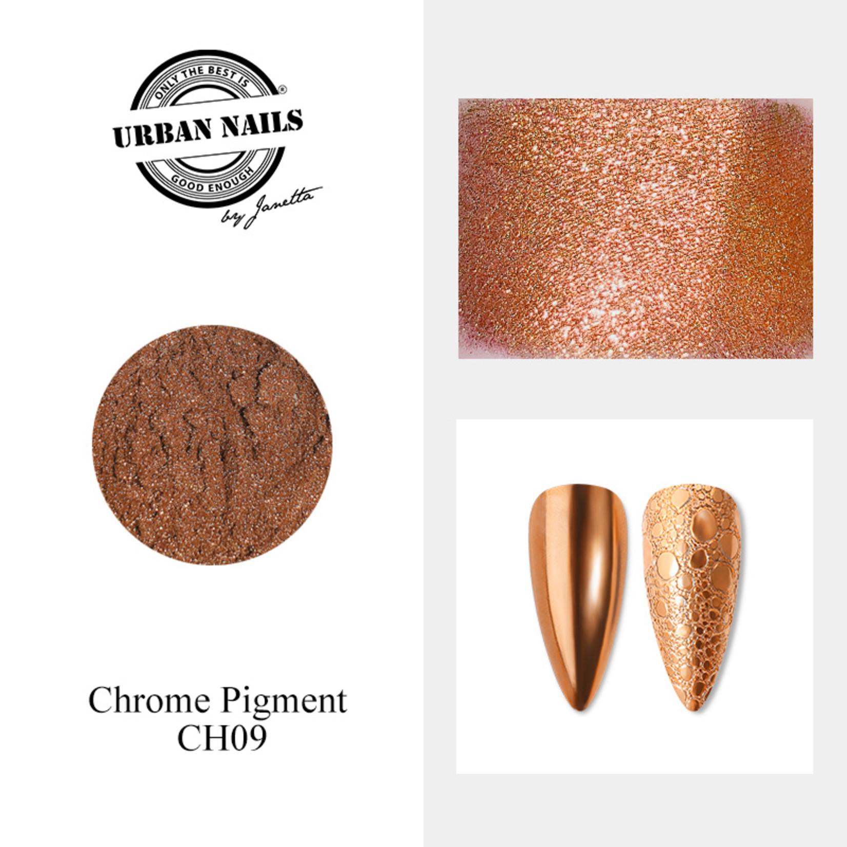 Urban Nails Chrome pigment 09 Rose Brons