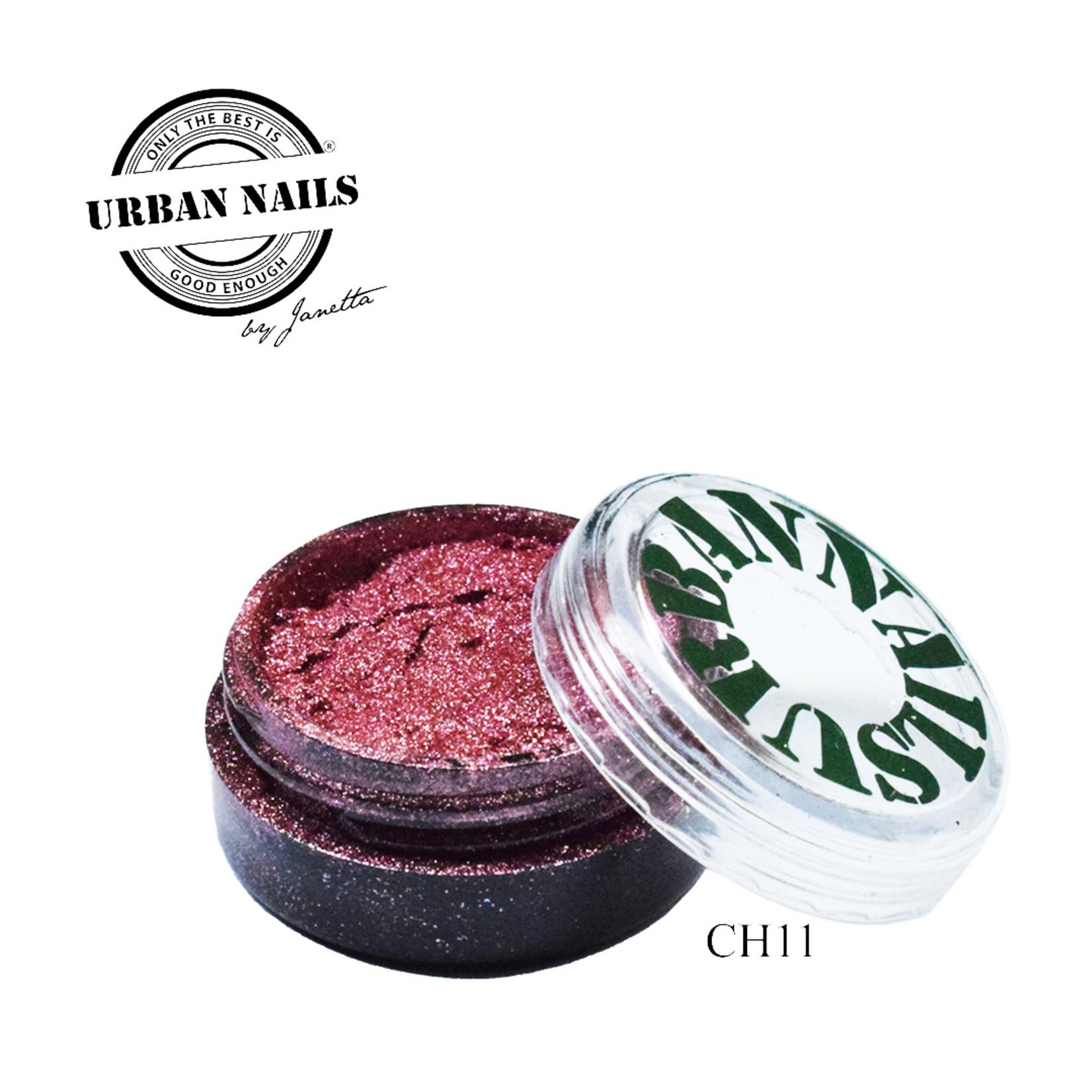 Urban Nails Chrome pigment 11 Oud Roze
