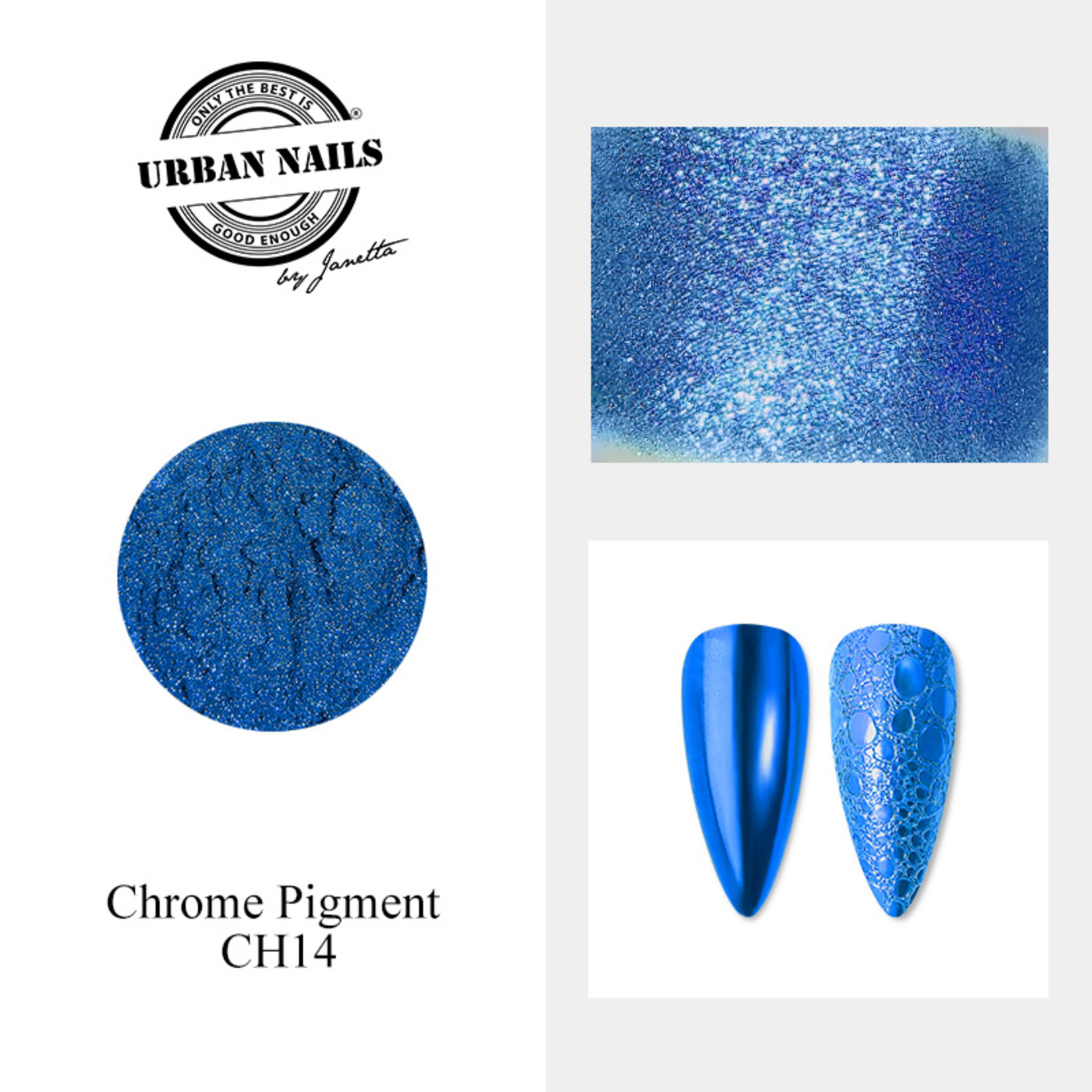 Urban Nails Chrome pigment 14 Fel Blauw