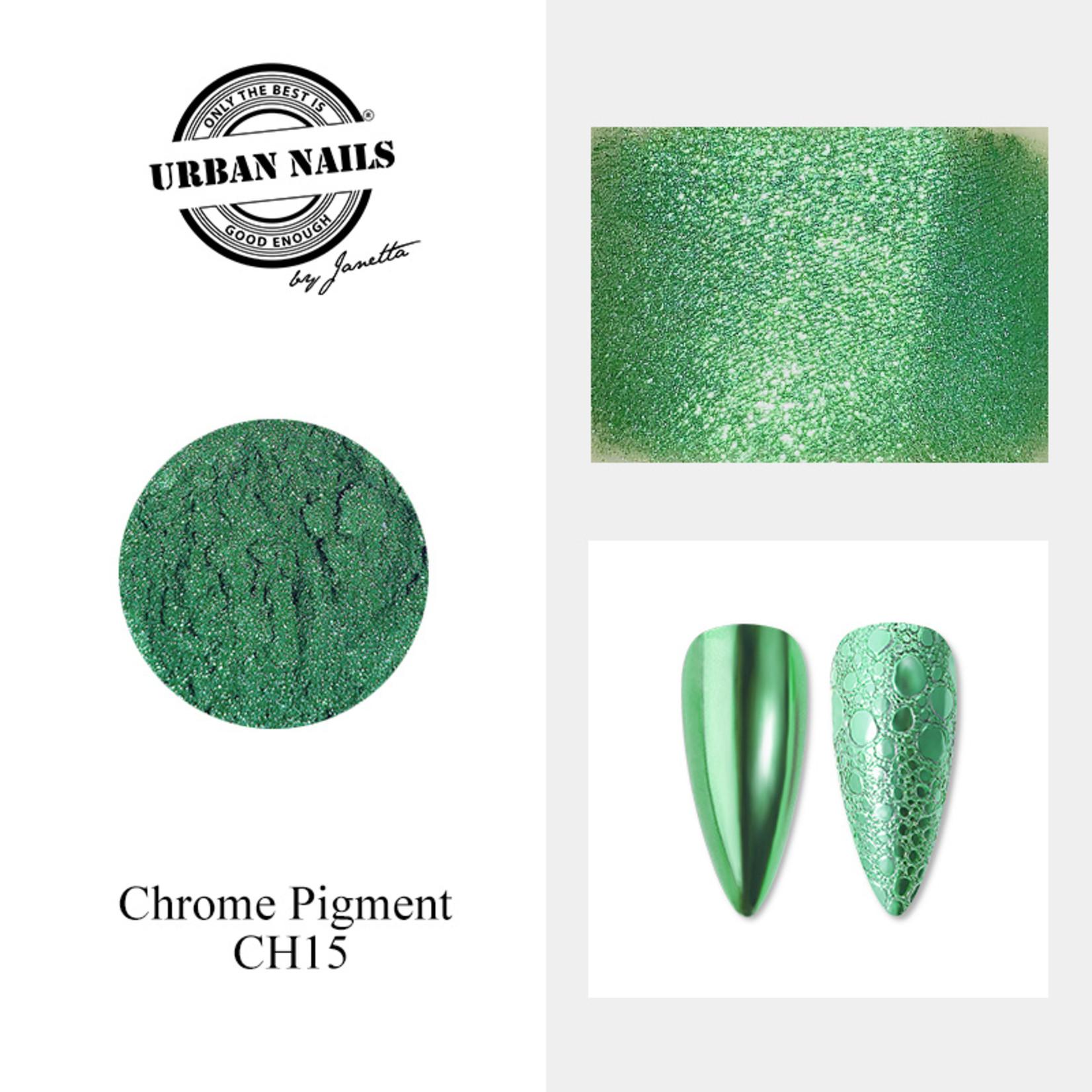 Urban Nails Chrome pigment 15 Donker Groen