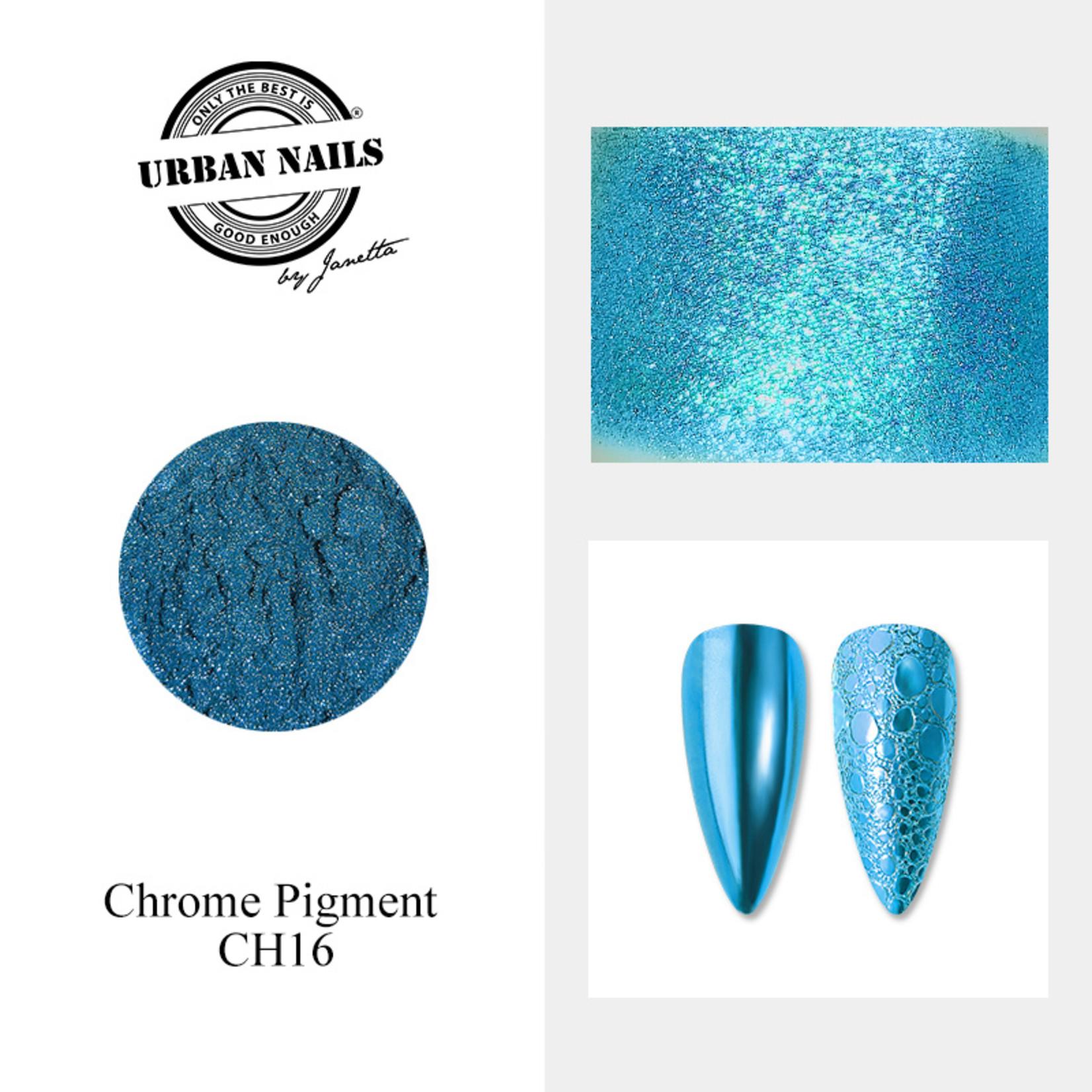 Urban Nails Chrome pigment 16 Blauw