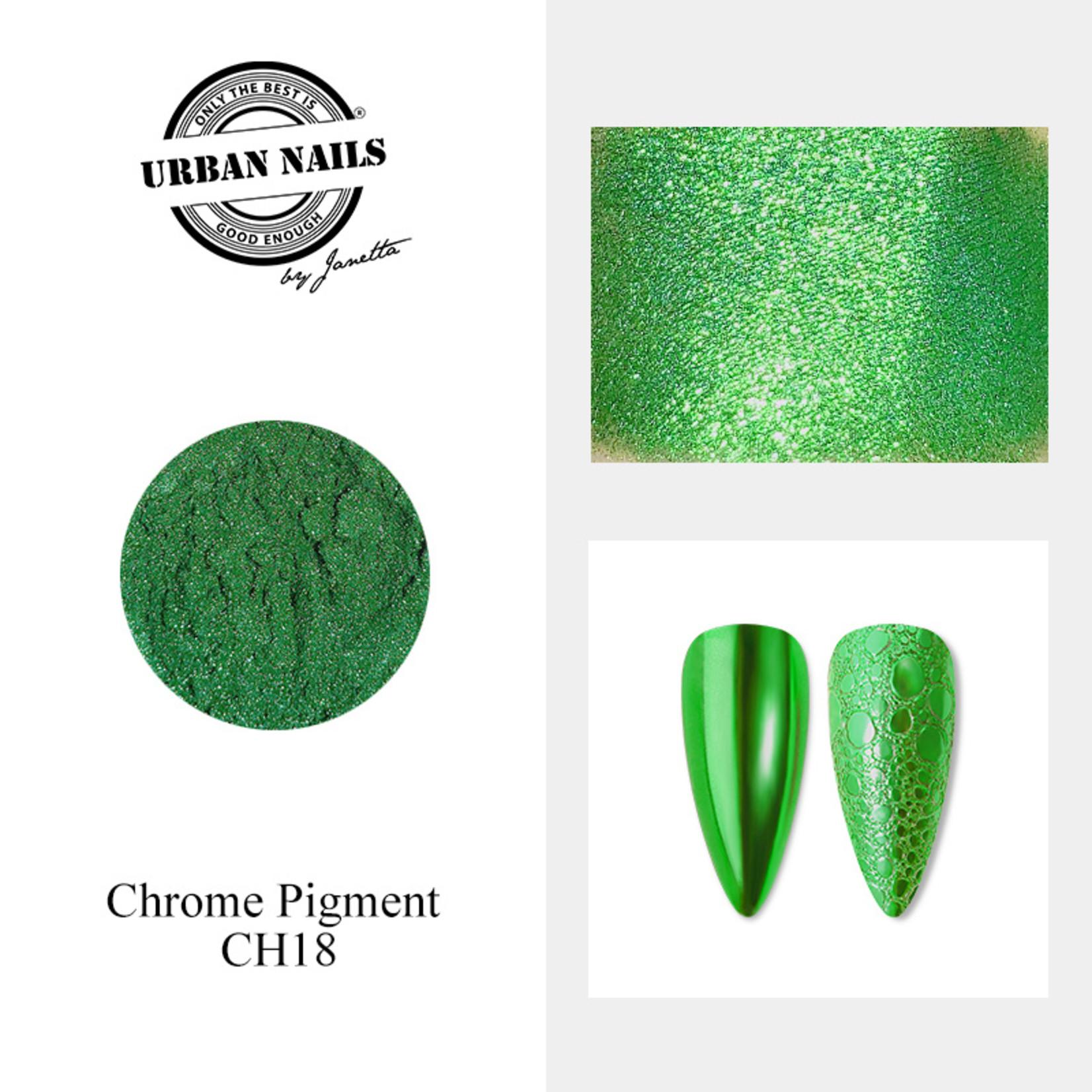 Urban Nails Chrome pigment 18 Groen