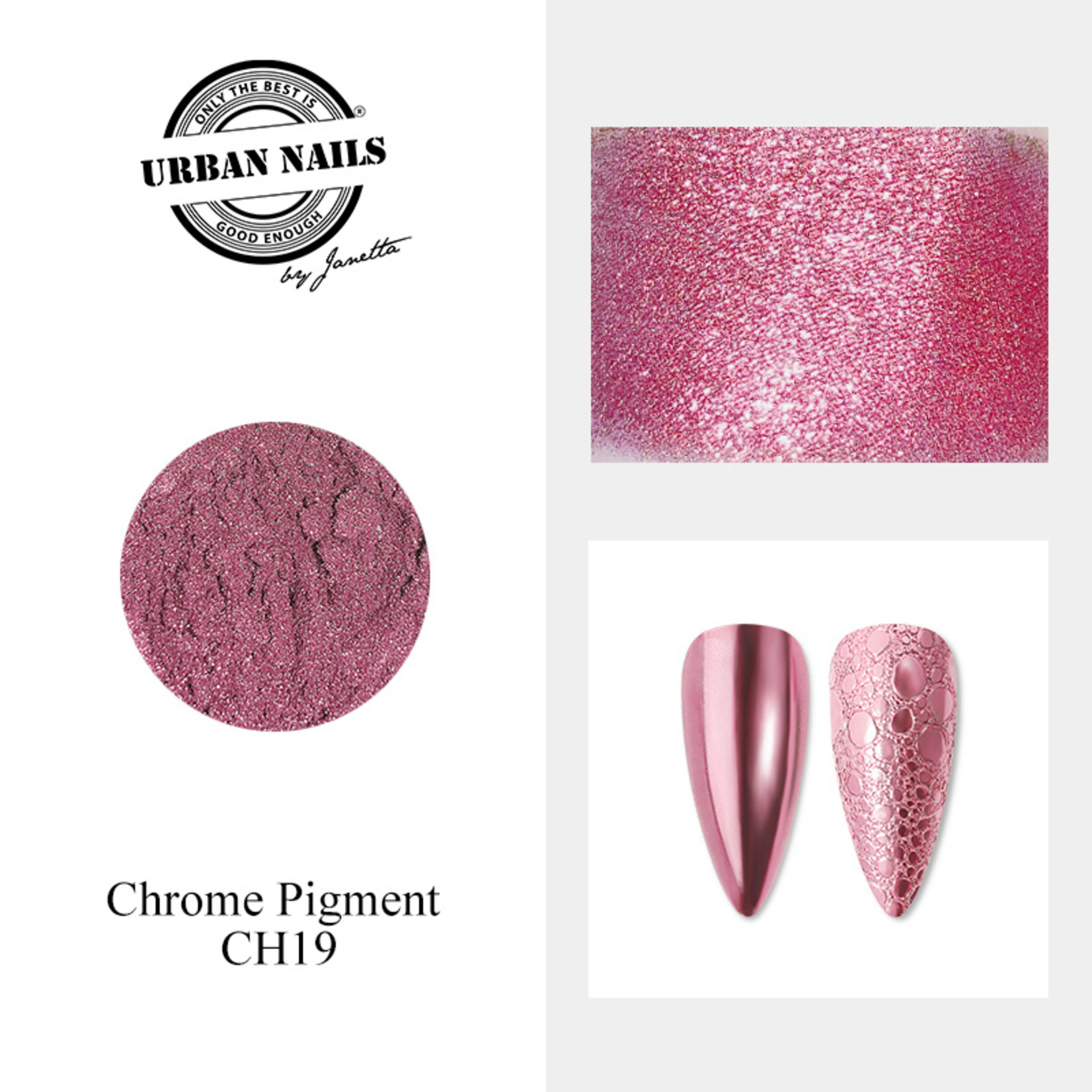 Urban Nails Chrome pigment 19 Magenta Roze