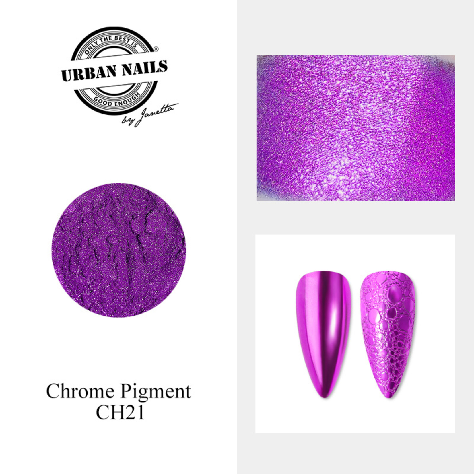 Urban Nails Chrome pigment 21 Donkerpaars