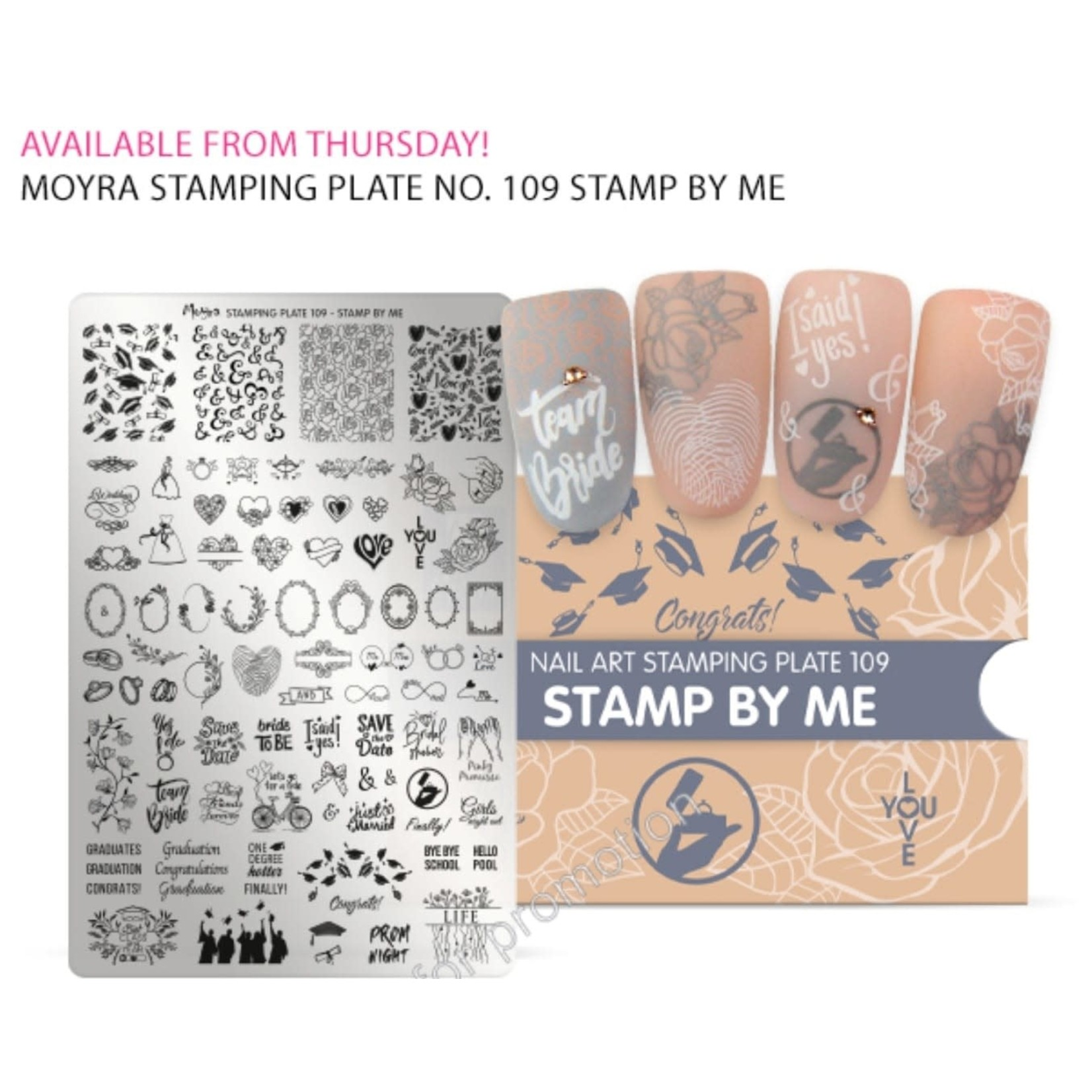 Moyra Moyra Stamping plate 109 Stamp By Me