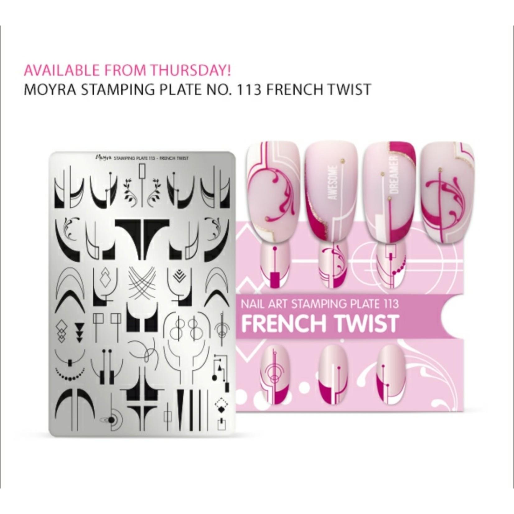 Moyra Moyra Stamping plate 113 French Twist
