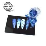 Urban Nails Pareltje van de Week 37  | Blauwe Glitter met vlinder