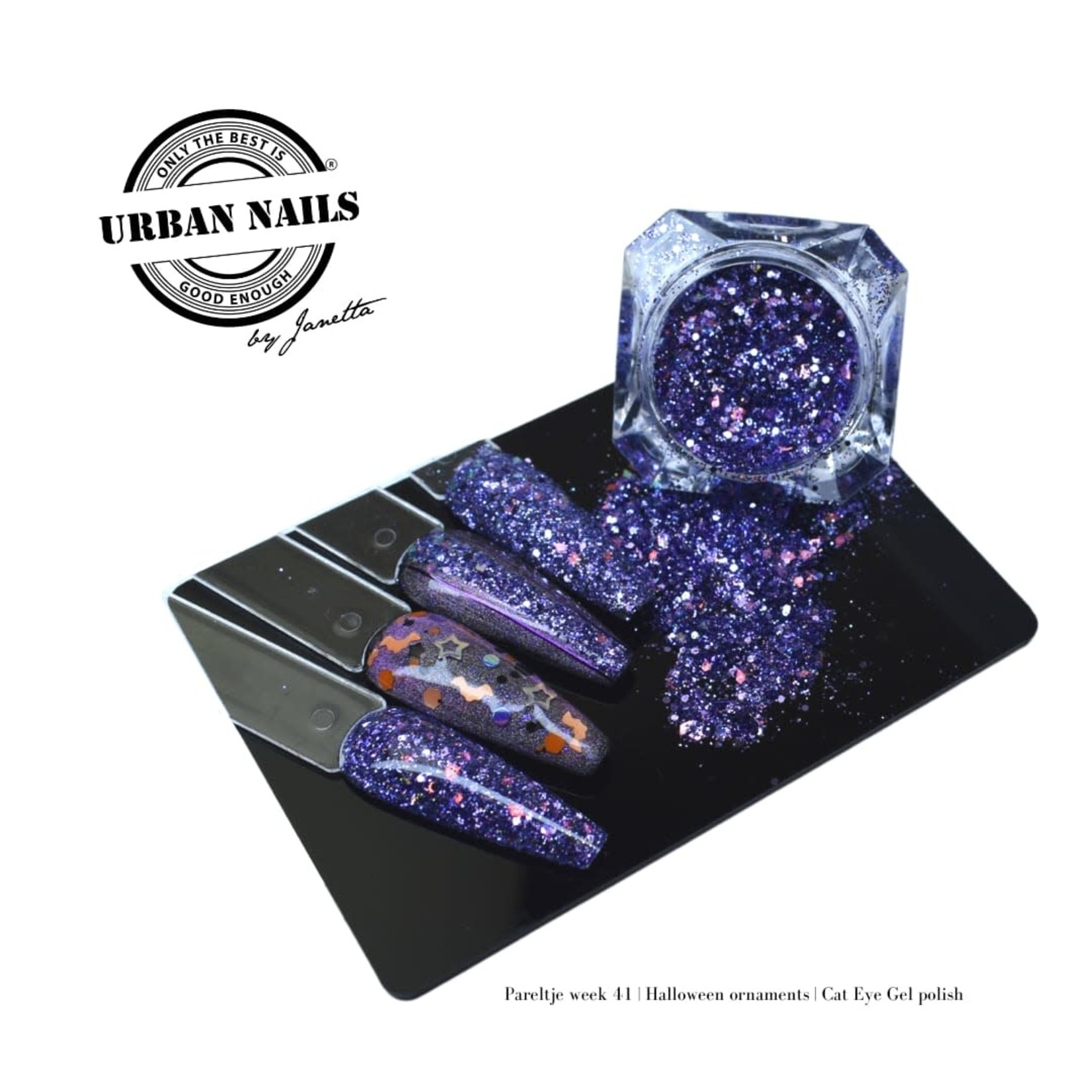 Urban Nails Pareltje van de Week 41 | Blauwe paars glitter