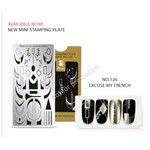 Moyra Moyra Mini Stamping plate 126 Excuse my french
