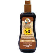 Australian Gold SPF 50 Spray Gel met bronzer