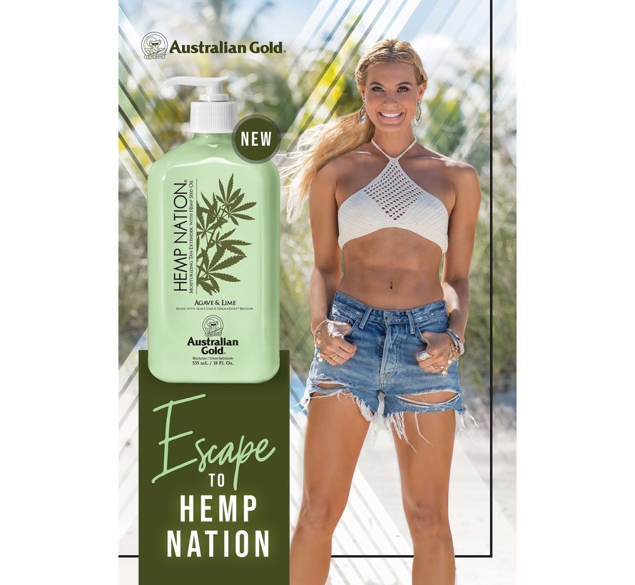 Hemp Nation Agave And Lime Body Lotion - Aftersun