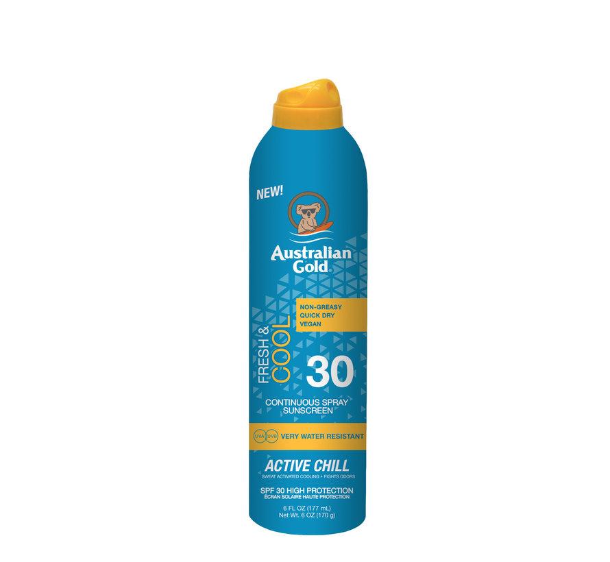 SPF 30 Continuous Active Chill - zonnebrandcrème