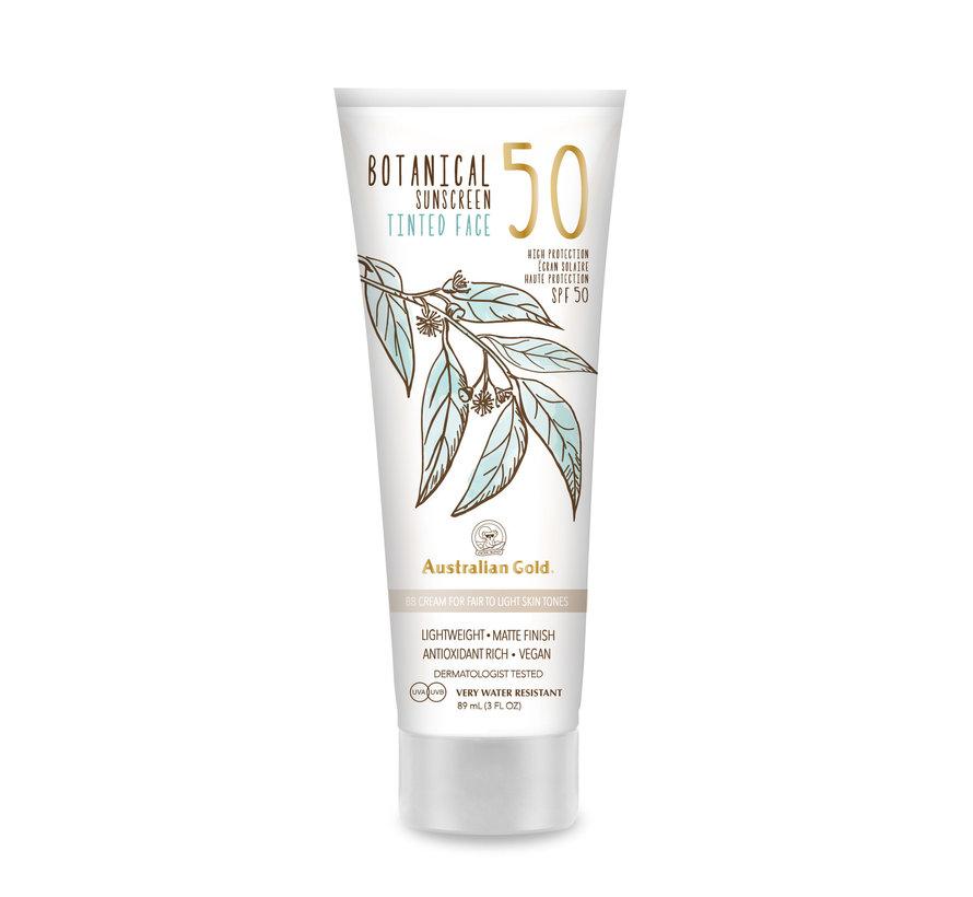 SPF 50 Botanical Tinted Face - Fair-Light - Zonnebrandcrème