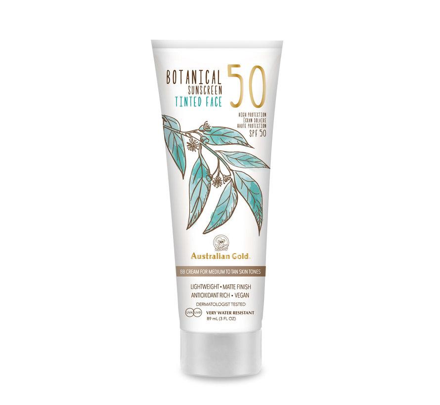 SPF 50 Botanical Tinted Face - Medium-Tan - zonnebrandcrème