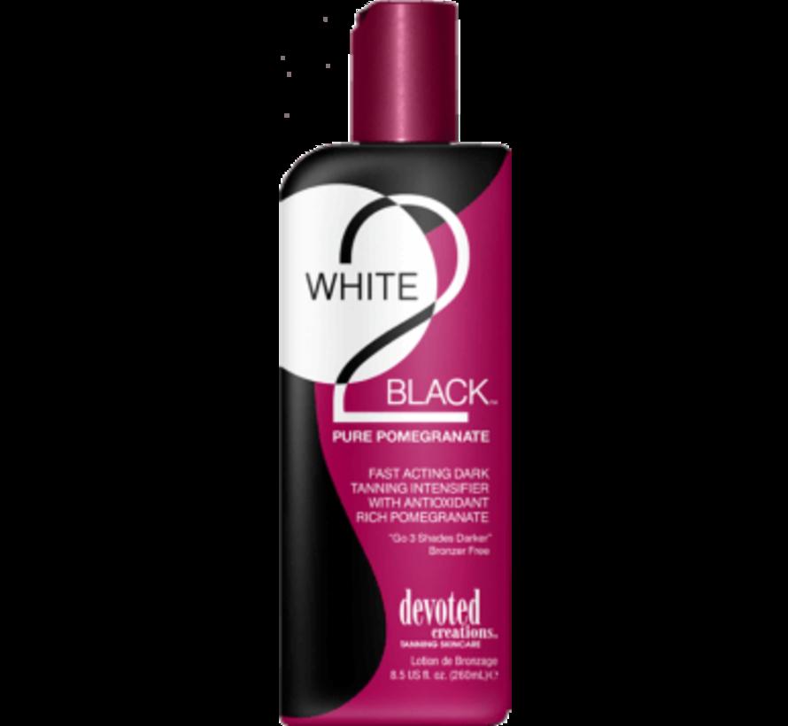 White 2 Black Pure Pomegranate - Zonnebankcrème