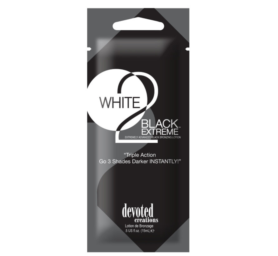 White 2 Black Extreme - Zonnebankcrème