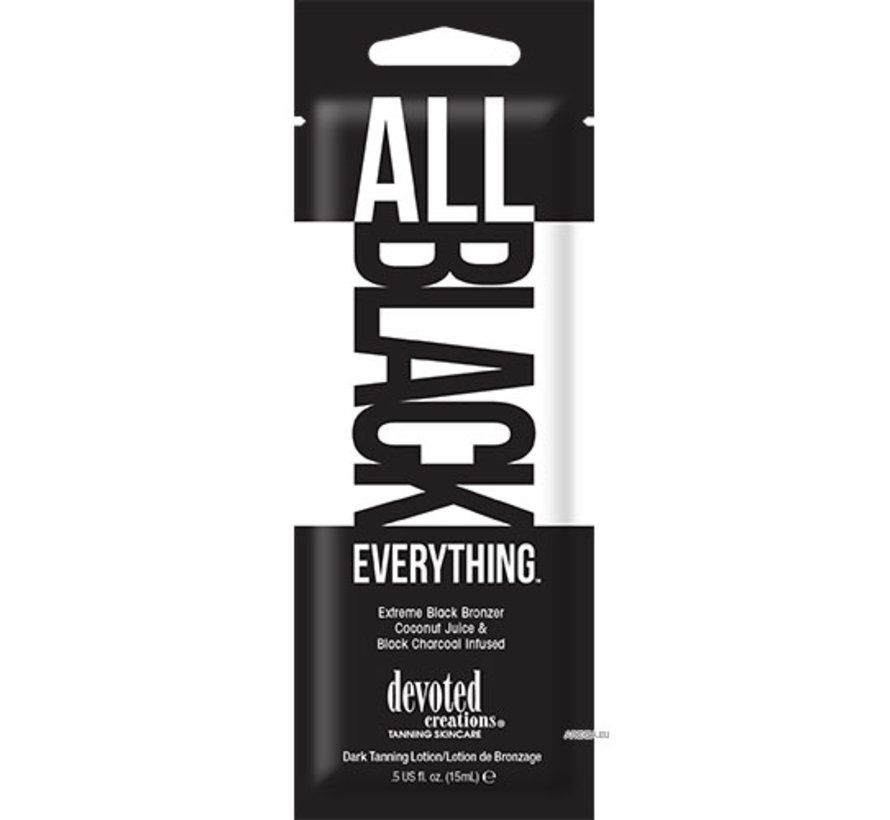 All Black Everything - Zonnebankcrème