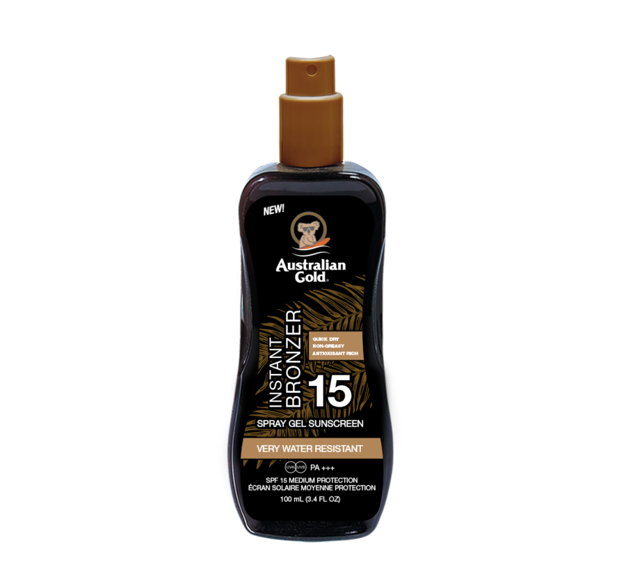 SPF 15 Spray Gel + Bronzer 100 ml - Reisverpakking
