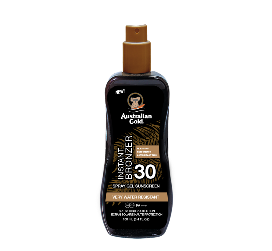 SPF 30 Spray Gel + Bronzer 100 ml - Reisverpakking