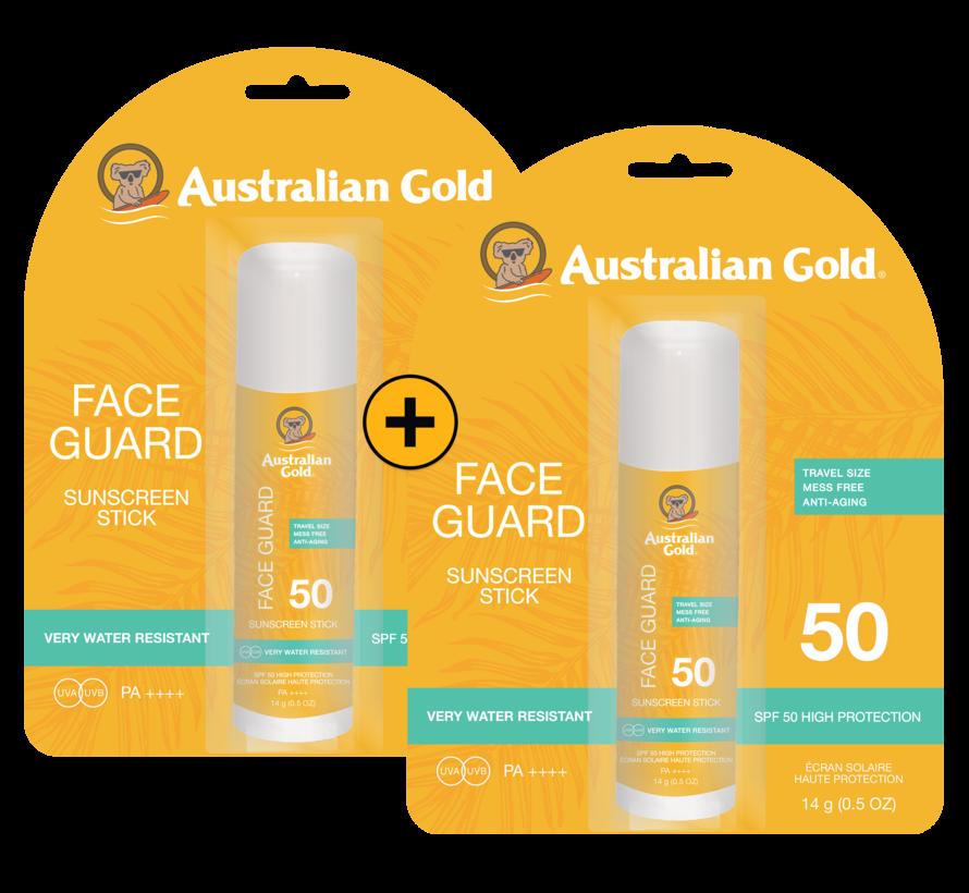 2x SPF 50 Face Guard Sticks - Zonnebrandcrème