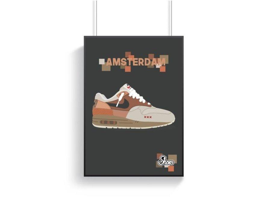 Nike Air Max 1 Amsterdam Poster - A3