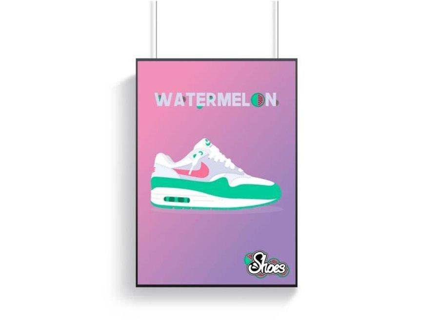 Nike Air Max 1 Watermelon Poster