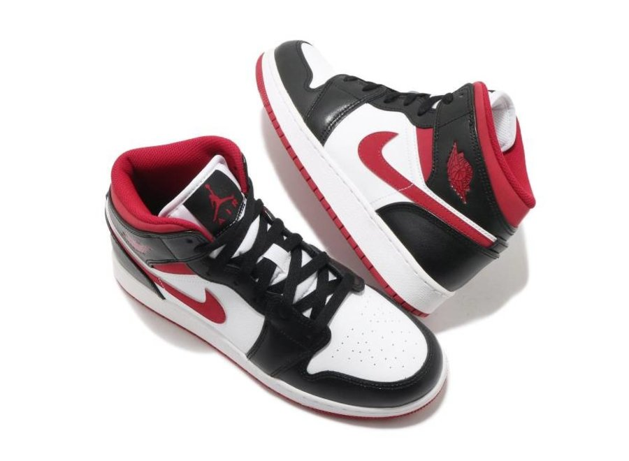 Air Jordan 1 Mid Gym Red Black/White GS