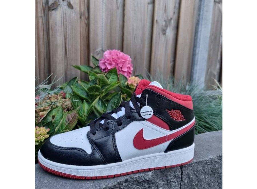 Air Jordan 1 Mid Gym Red Black/White GS