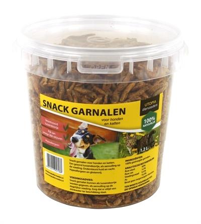Utopia diertotaal Gedroogde snack garnalen voor hond en kat
